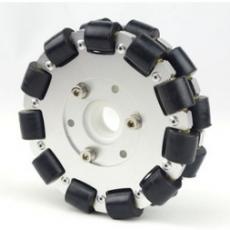 MTO-14075/127mm(5인치) 알루미늄+고무 옴니휠 롤러부 부시 삽입형(엠티솔루션)