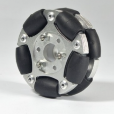 MTO-14145/60mm 알루미늄+고무 옴니휠(엠티솔루션)/1개 주문시 4개 묶음 배송됨