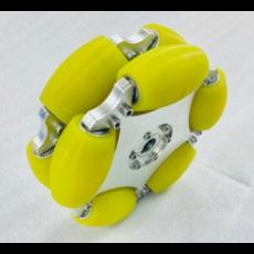 MTO-14194/203mm(8인치) 알루미늄+우레탄 옴니휠 롤러부 베어링 삽입형(엠티솔루션)