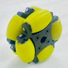 MTO-NW152A/152mm(6인치) 스틸+우레탄 고중량 옴니휠 롤러부 베어링 삽입형(엠티솔루션)