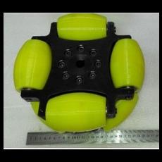 MTO-NW254A/254mm(10인치) 스틸+우레탄 고중량 옴니휠 롤러부 베어링 삽입형(엠티솔루션)